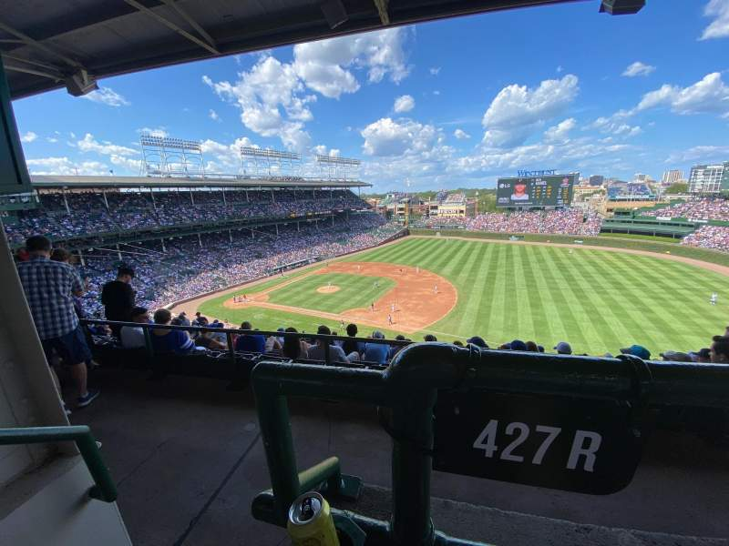 Seating view for Wrigley Field Section 427R Row 1 Seat 1