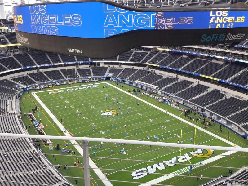 Seating view for SoFi Stadium Section 525 Row 2 Seat 6