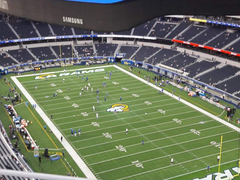 Seating view for SoFi Stadium Section 525 Row 3 Seat 7