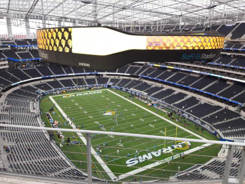 Seating view for SoFi Stadium Section 525 Row 4 Seat 8