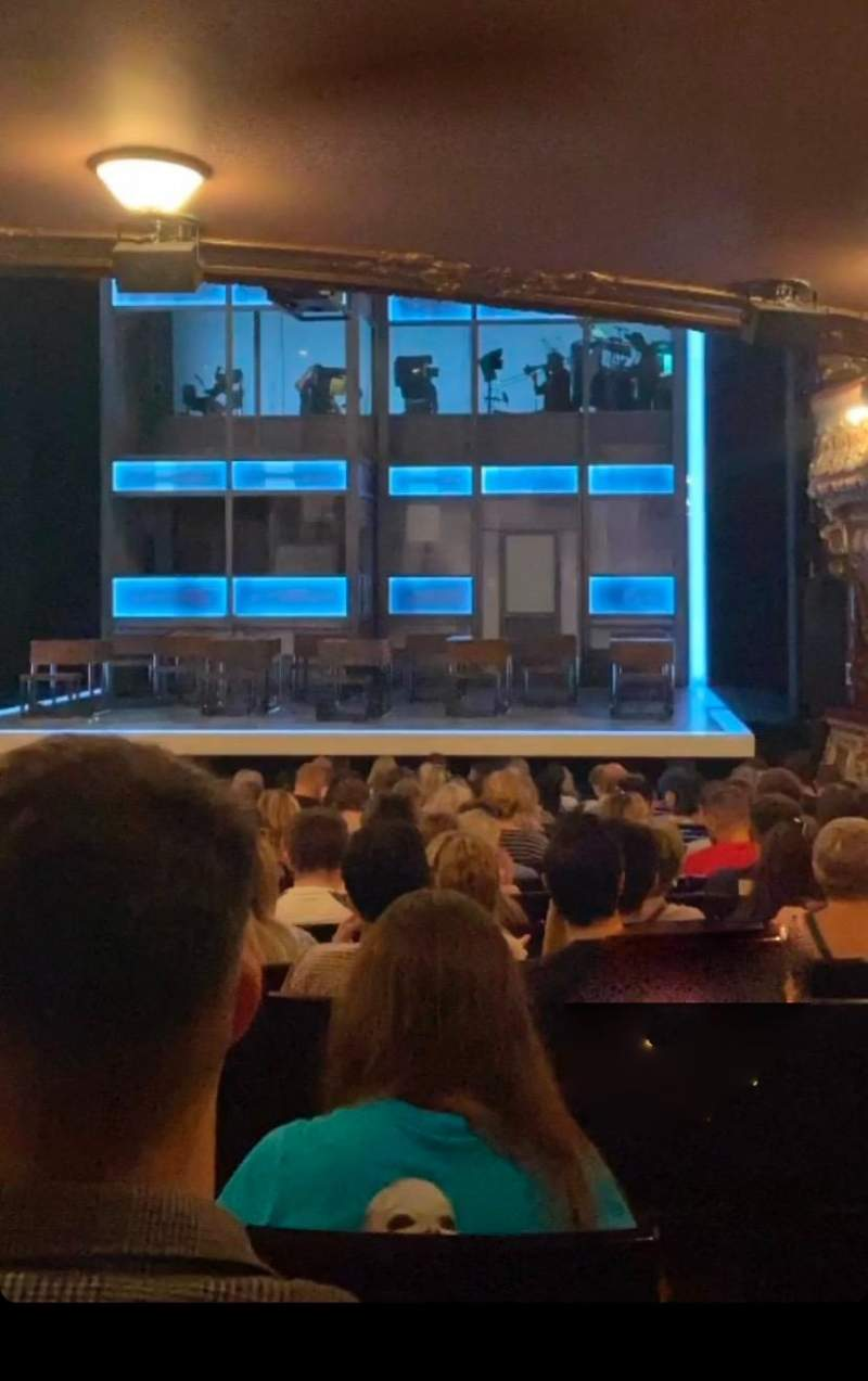 Seating view for Apollo Theatre Section Stalls Row X Seat 8