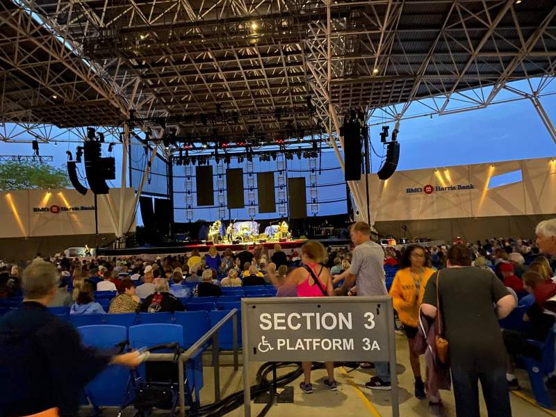 Seating view for BMO Harris Pavilion Section 9 Row A Seat 1