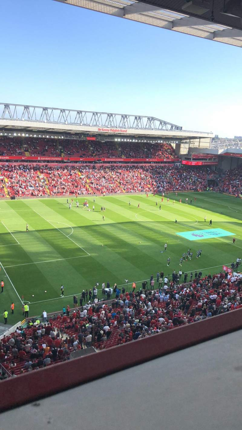 Seating view for Anfield Section U1 Row 59 Seat 18