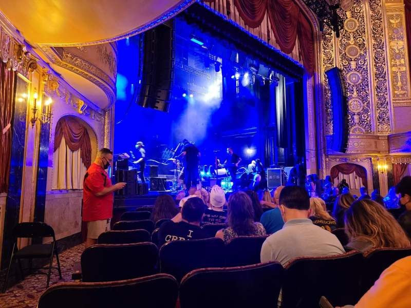 Seating view for Warner Theatre (Washington, D.C.) Section Orchestra Left Row H Seat 17