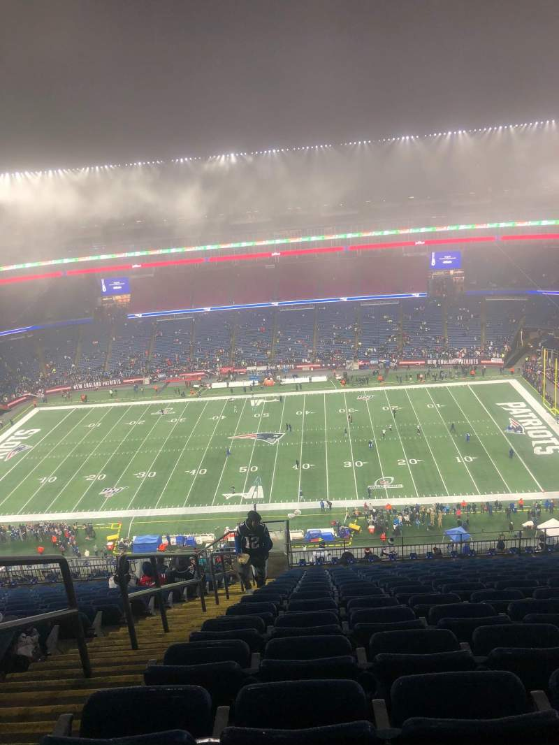 Seating view for Gillette Stadium Section 330 Row 23 Seat 4