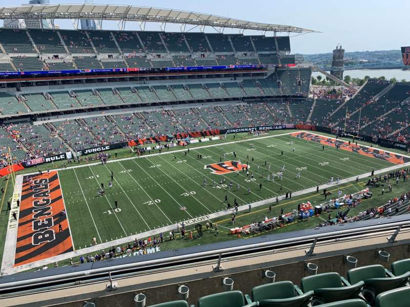 Seating view for Paul Brown Stadium Section 314 Row 4 Seat 9