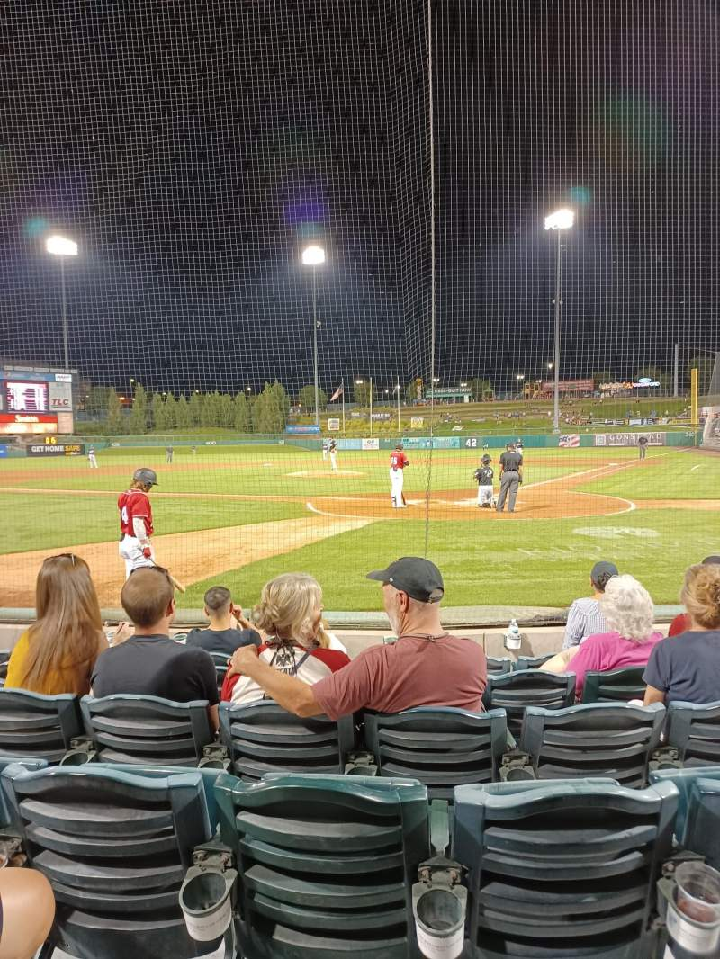 Seating view for Isotopes Park Section 103 Row F Seat 05