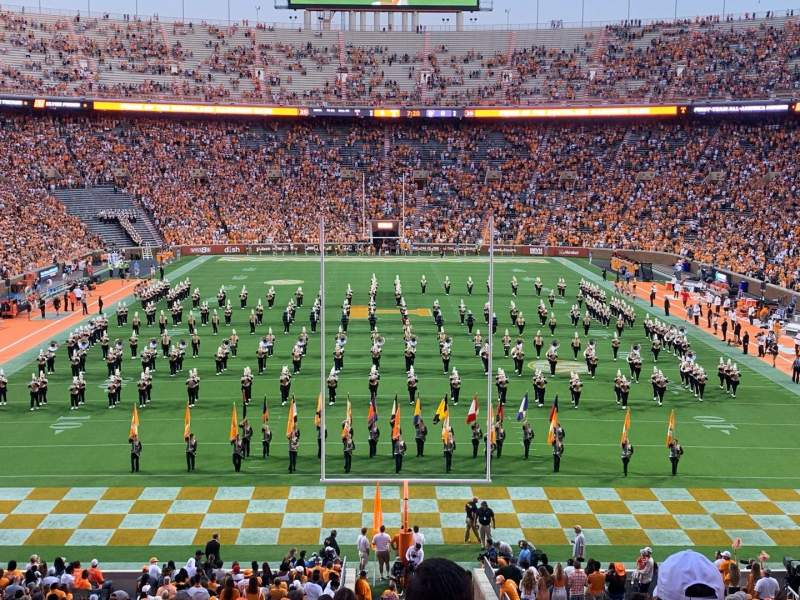 Seating view for Neyland Stadium Section Y8 Row 28 Seat 14