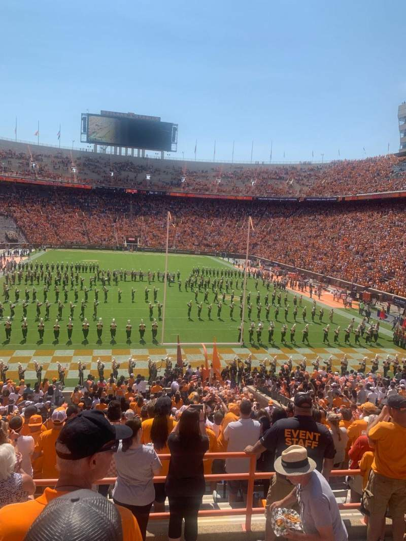 Seating view for Neyland Stadium Section Y9 Row 20 Seat 1