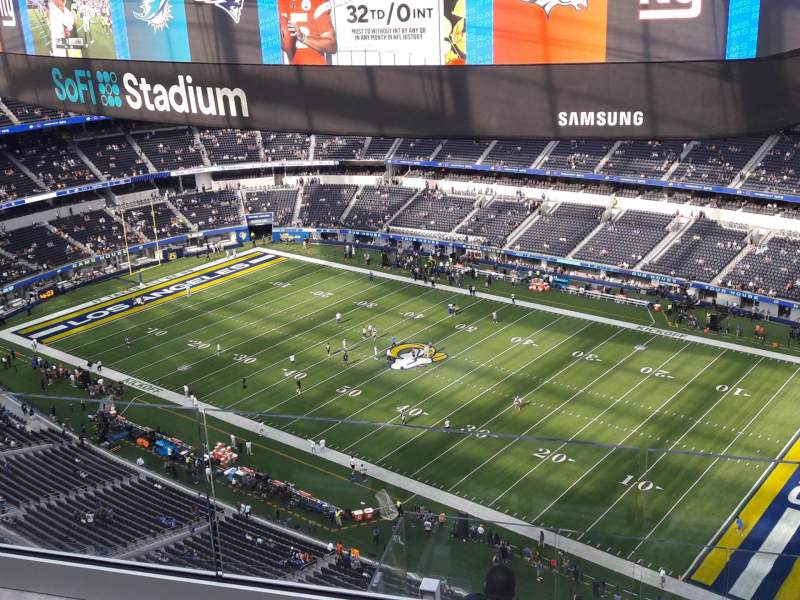 Seating view for SoFi Stadium Section 520 Row 3 Seat 18
