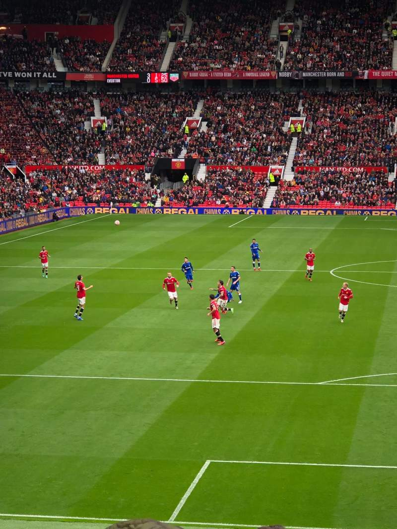 Seating view for Old Trafford Section W205 Row 15 Seat 201