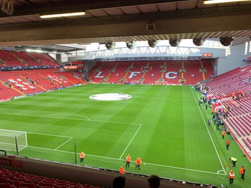 Seating view for anfield Section 222 Row 10 Seat 50