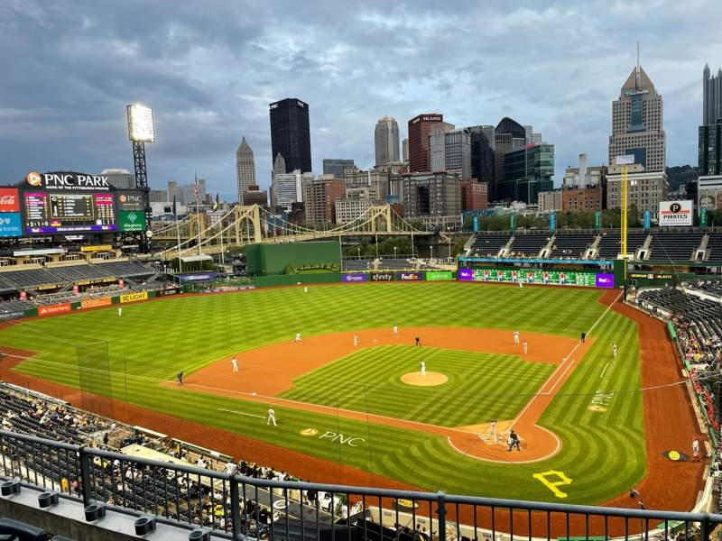 Seating view for PNC Park Section 219 Row D Seat 5