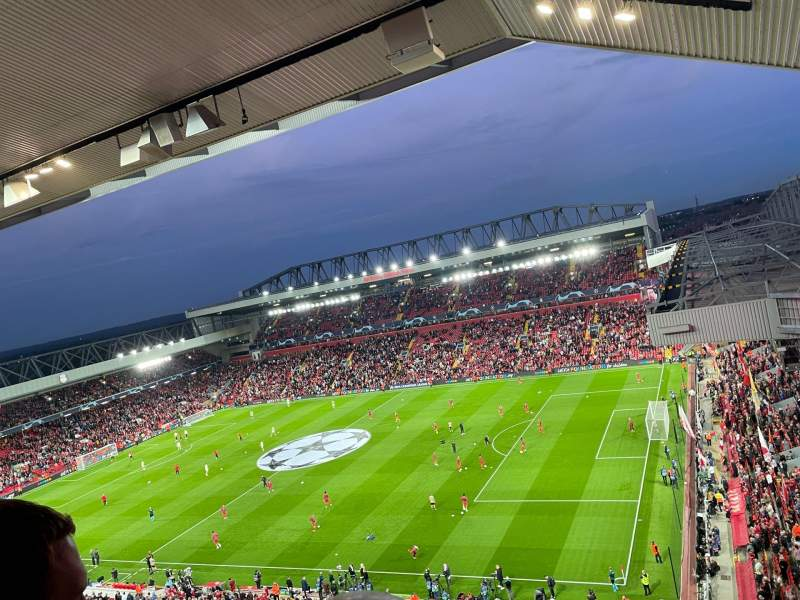 Seating view for Anfield Section U9 Row 60 Seat 151