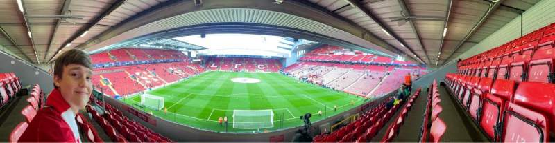 Seating view for Anfield Section 225 Row 7 Seat 114