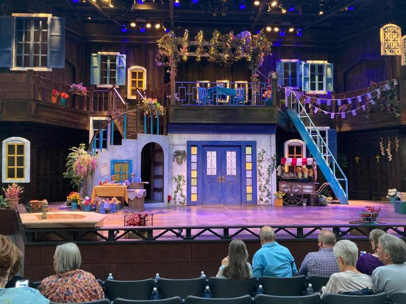 Seating view for Engelstad Shakespeare Theatre Section Center Row E Seat 12
