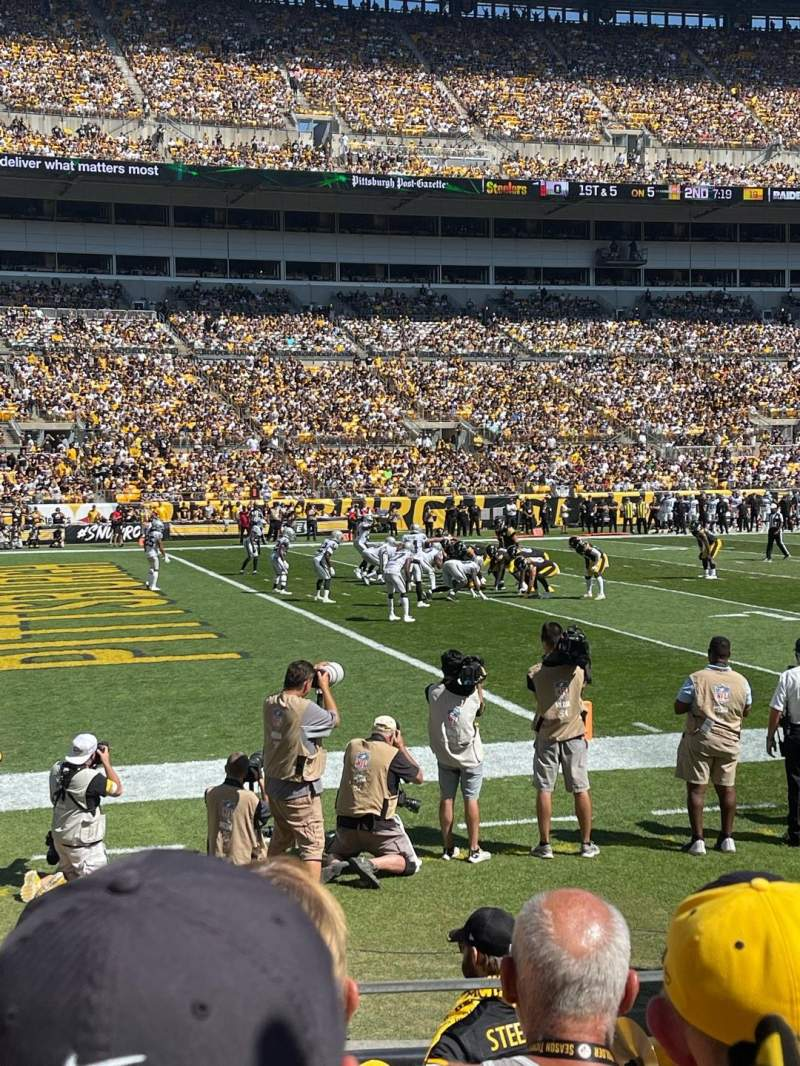Seating view for Heinz Field Section 130 Row D Seat 10