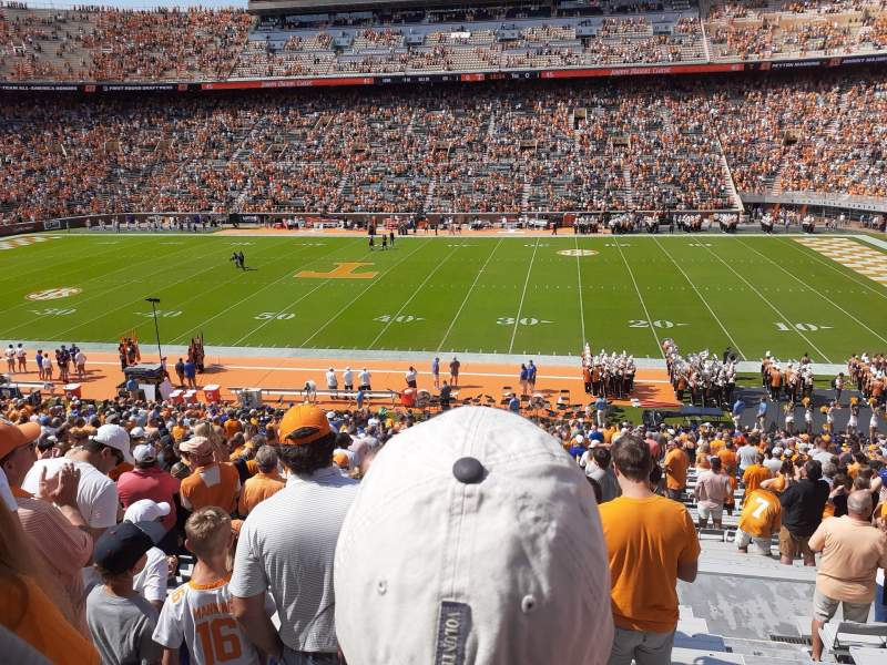 Seating view for Neyland Stadium Section B Row 41 Seat 19