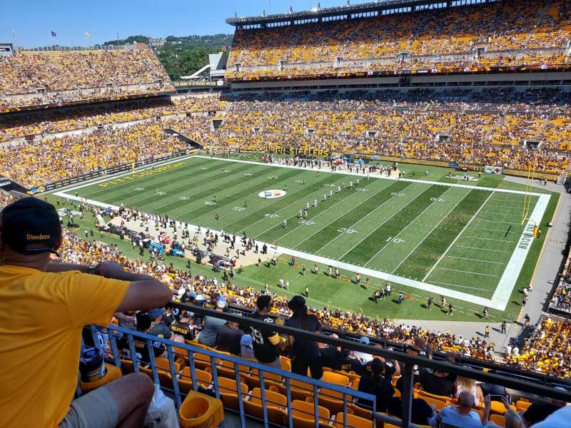Seating view for Heinz Field Section 539 Row G Seat 6