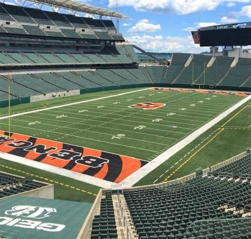 Seating view for Paul Brown Stadium Section 220 Row 4 Seat 1