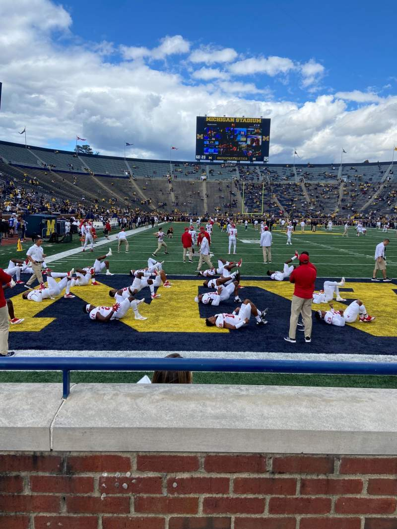 Seating view for Michigan Stadium Section 12 Row 1 Seat 3