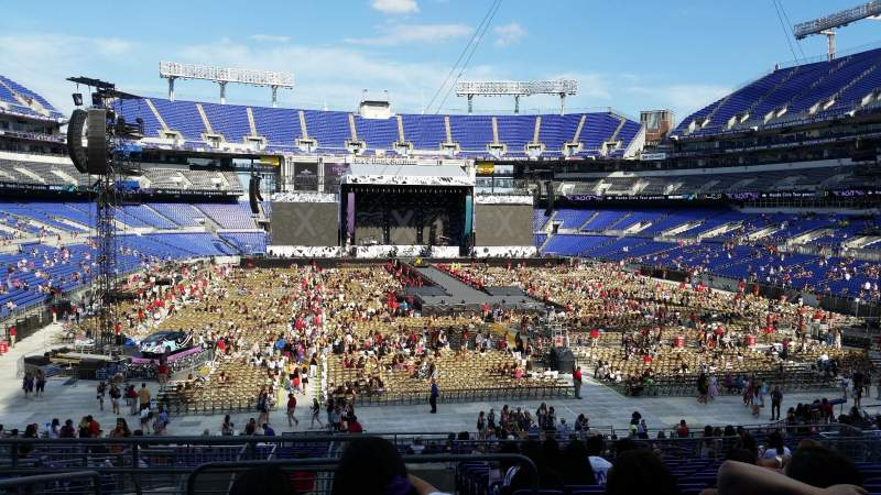 Seating view for M&T Bank Stadium Section 141 Row 34 Seat 20