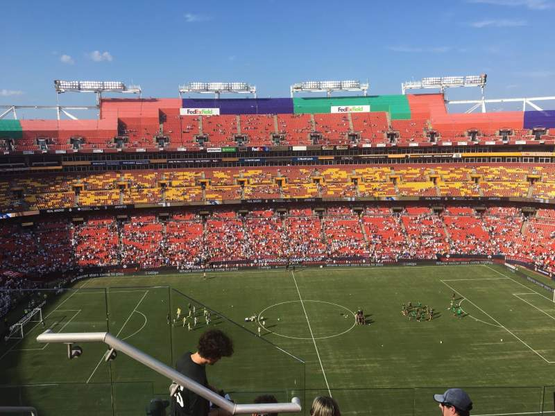 FedEx Field, section: 401, row: 6, seat: 19