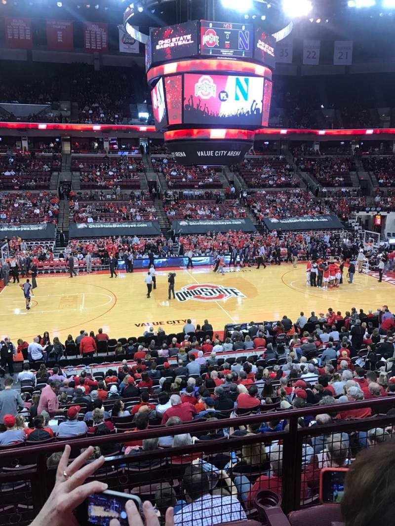 Seating view for Value City Arena Section 223 Row C Seat 12