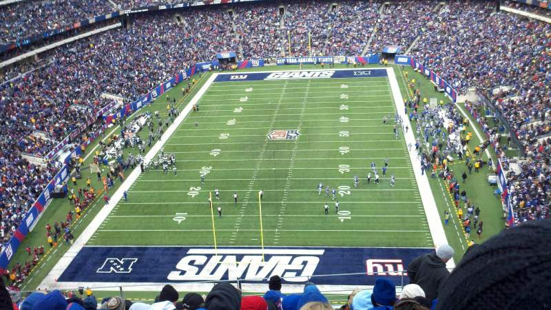 Seating view for MetLife Stadium Section 325 Row 14 Seat 11