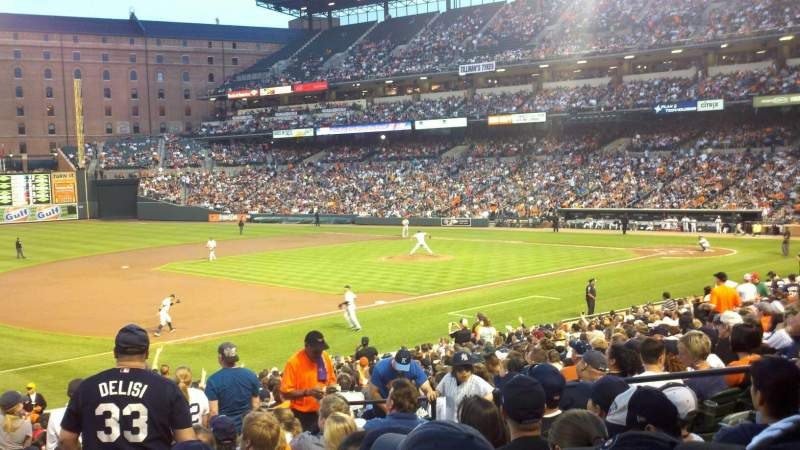 Seating view for Oriole Park at Camden Yards Section 60 Row 27 Seat 5-8