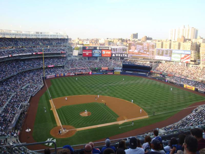 Seating view for Yankee Stadium Section 418 Row 7 Seat 23 and 24