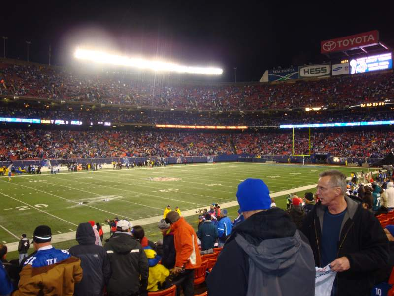 Seating view for Old Giants Stadium Section 134 Row 7