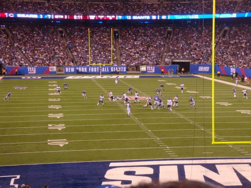 Seating view for MetLife Stadium Section 103 Row 31 Seat 7-10