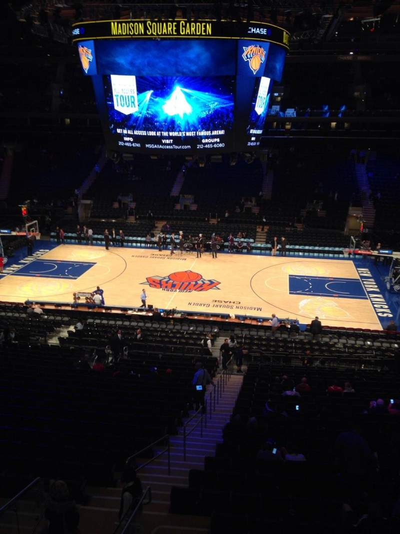 Seating view for Madison Square Garden Section 212 Row 1 Seat 2