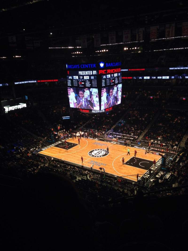 Seating view for Barclays Center Section 221 Row 7 Seat 4