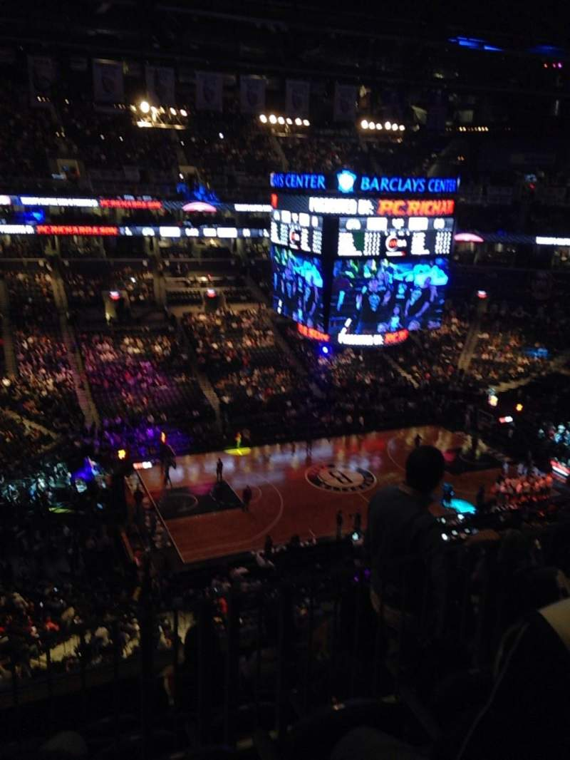 Seating view for Barclays Center Section 210 Row 5 Seat 17