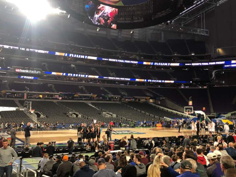 Seating view for U.S. Bank Stadium Section V5 Row N Seat 4