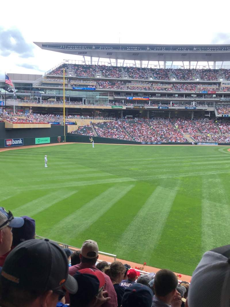 Seating view for Target Field Section 131 Row 10 Seat 5