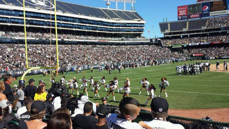Seating view for Oakland Alameda Coliseum Section 126 Row 12 Seat 6