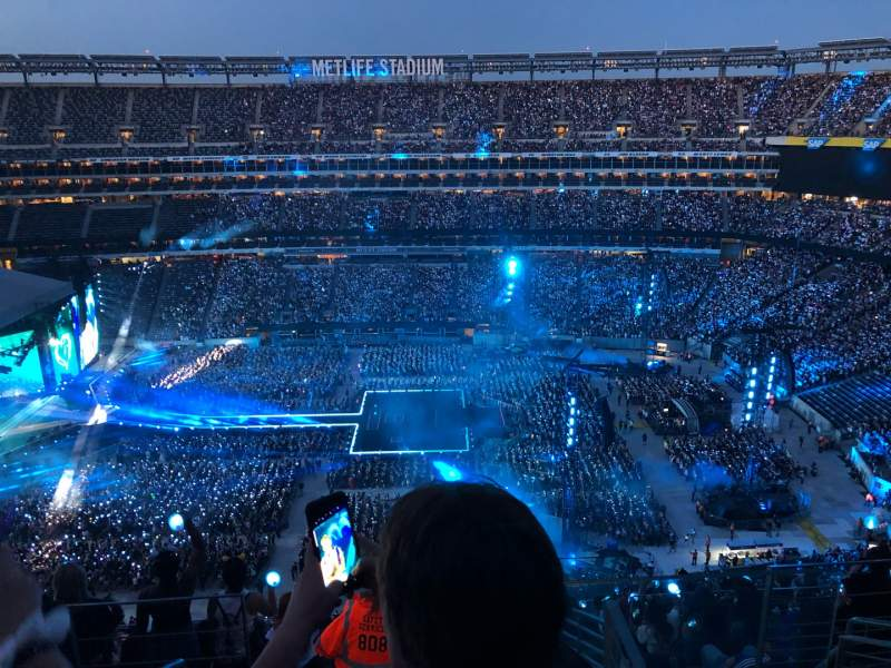 Seating view for MetLife Stadium Section 338 Row 16 Seat 1