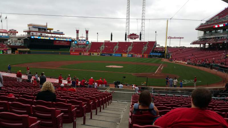 Seating view for Great American Ball Park Section 120 Row AA Seat 13