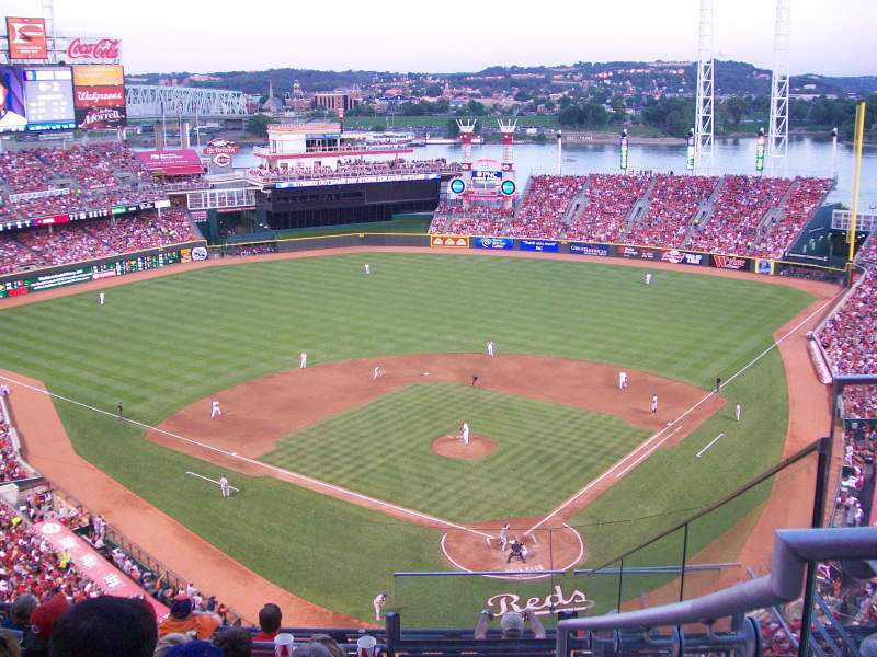 Seating view for Great American Ball Park Section 522 Row F Seat 4