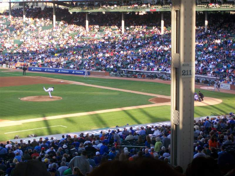 Seating view for Wrigley Field Section 209 Row 19 Seat 7