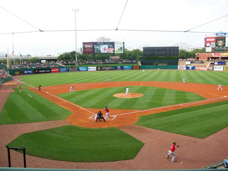 Seating view for Louisville Slugger Field Section 214 Row A Seat 5