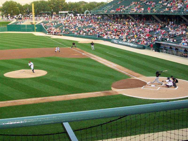 Seating view for Victory Field Section 206 Row B Seat 9