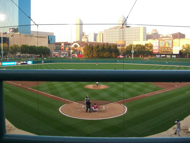 Seating view for Victory Field Section 210 Row A Seat 12