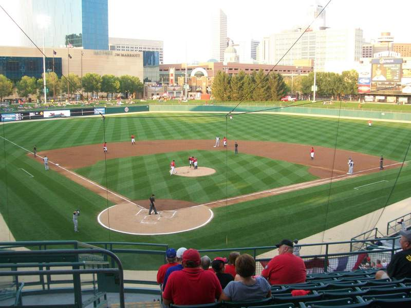 Seating view for Victory Field Section 211 Row K Seat 4