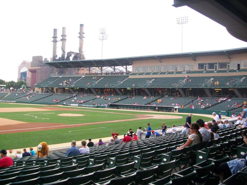 Seating view for Victory Field Section 106 Row U Seat 9