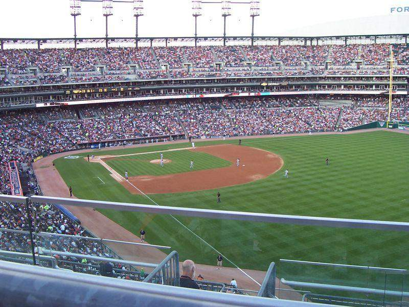 Seating view for Comerica Park Section 211 Row 6 Seat 16
