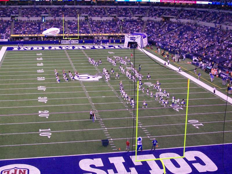 Seating view for Lucas Oil Stadium Section 401 Row 2 Seat 13